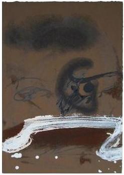 antoni tapies autoritratto litografia 1982