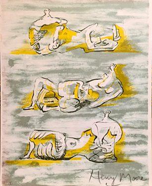 henry moore three reclining figures litografia 1971
