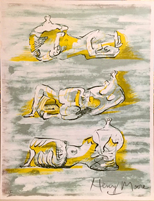 henry moore three reclining figures litografia 1971