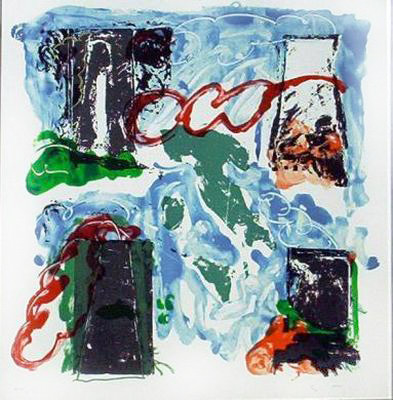 mario schifano centrale serigrafia 1988