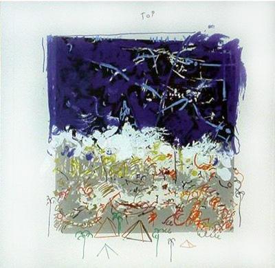 mario schifano pieno deserto serigrafia 1988