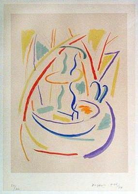 piero dorazio fontana serigrafia 1946-84