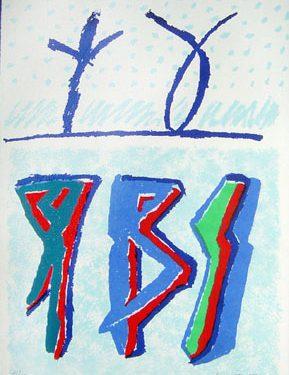 riccardo licata serigrafia 1998 C