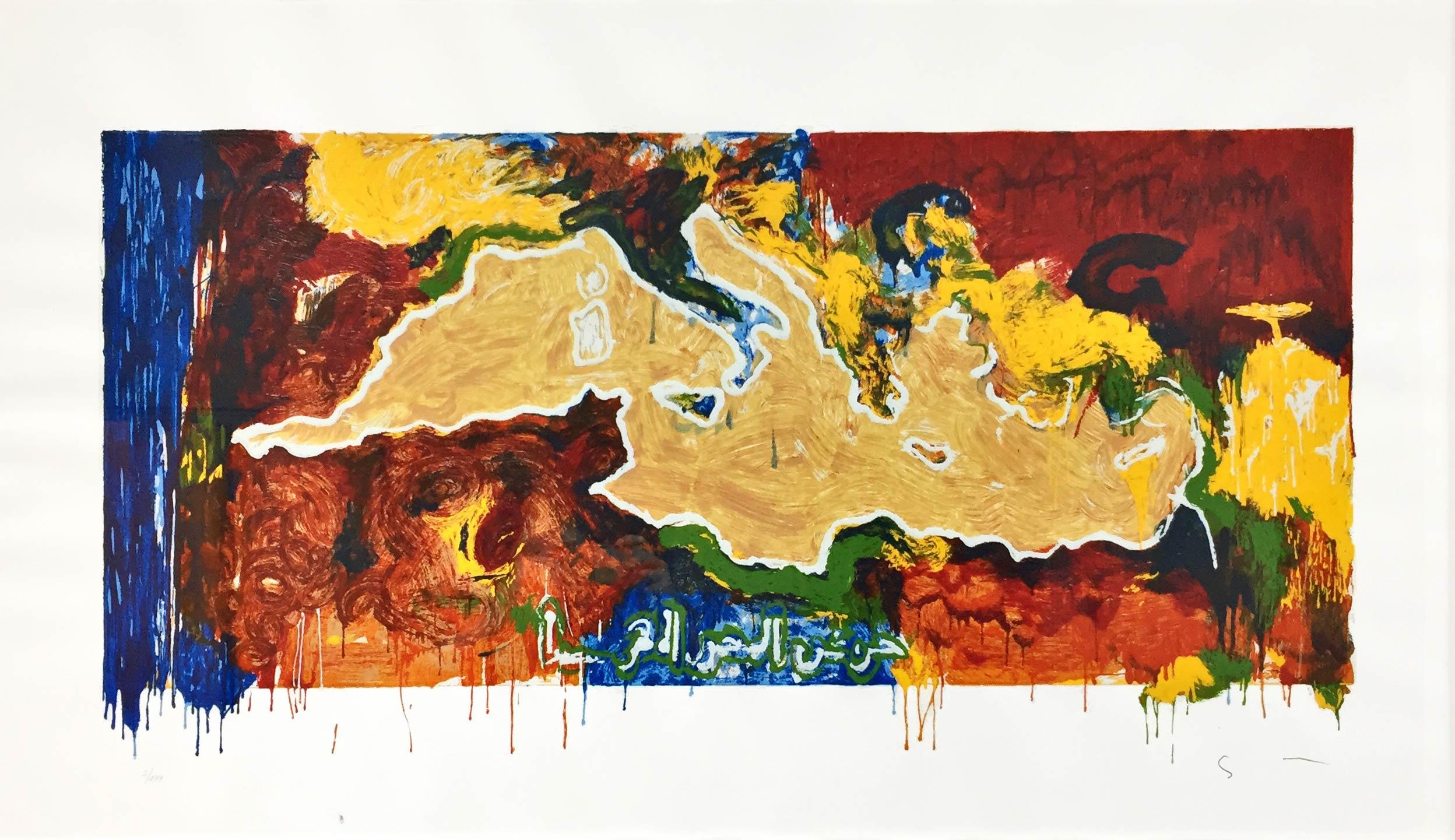 mario schifano serigrafia 1996