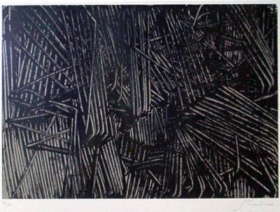 emilio scanavino tramatura serigrafia 1974