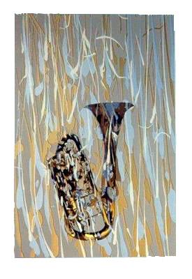 fernandez arman trumpet serigrafia 1996