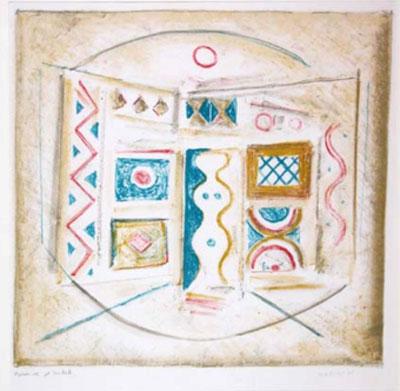massimo campigli interno litografia 1965
