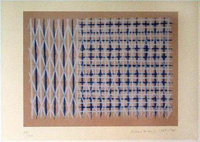 piero dorazio jeuecossais vi serigrafia 1963-84