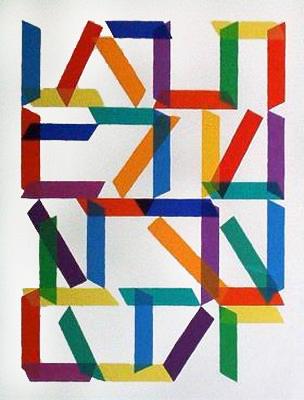 piero dorazio serigrafia 1966-1985