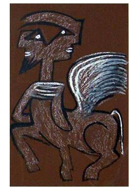 sebastian matta figura serigrafia